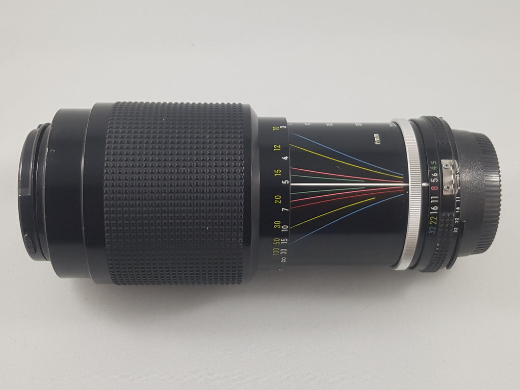 Nikkor 80-200mm f/4.5 AI Nikon Manual Zoom Film Lens - Used Condition 9/10 - Paramount Camera & Repair - Saskatoon Canada Used Cameras Used Lenses Batteries Grips Chargers Studio
