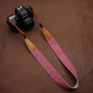 Fashion Camera Strap - Apple Pattern - Paramount Camera & Repair - Saskatoon Canada Used Cameras Used Lenses Batteries Grips Chargers Studio