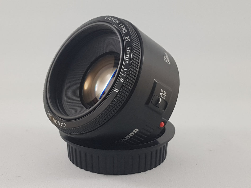 Canon EF 50mm f/1.8 II lens - Used Condition 10/10 - Paramount Camera & Repair - Saskatoon Canada Used Cameras Used Lenses Batteries Grips Chargers Studio