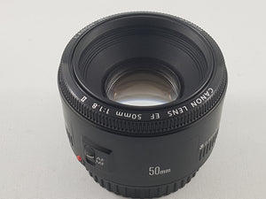 Canon EF 50mm f/1.8 STM lens - Used Condition 9/10 - Paramount Camera & Repair - Saskatoon Canada Used Cameras Used Lenses Batteries Grips Chargers Studio