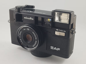 Minolta Himatic AF 35mm Point & Shoot - Paramount Camera & Repair - Saskatoon Canada Used Cameras Used Lenses Batteries Grips Chargers Studio