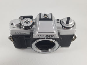Minolta XG-M, 35mm Film Camera w/ 135mm 2.8 Lens - Paramount Camera & Repair - Saskatoon Canada Used Cameras Used Lenses Batteries Grips Chargers Studio