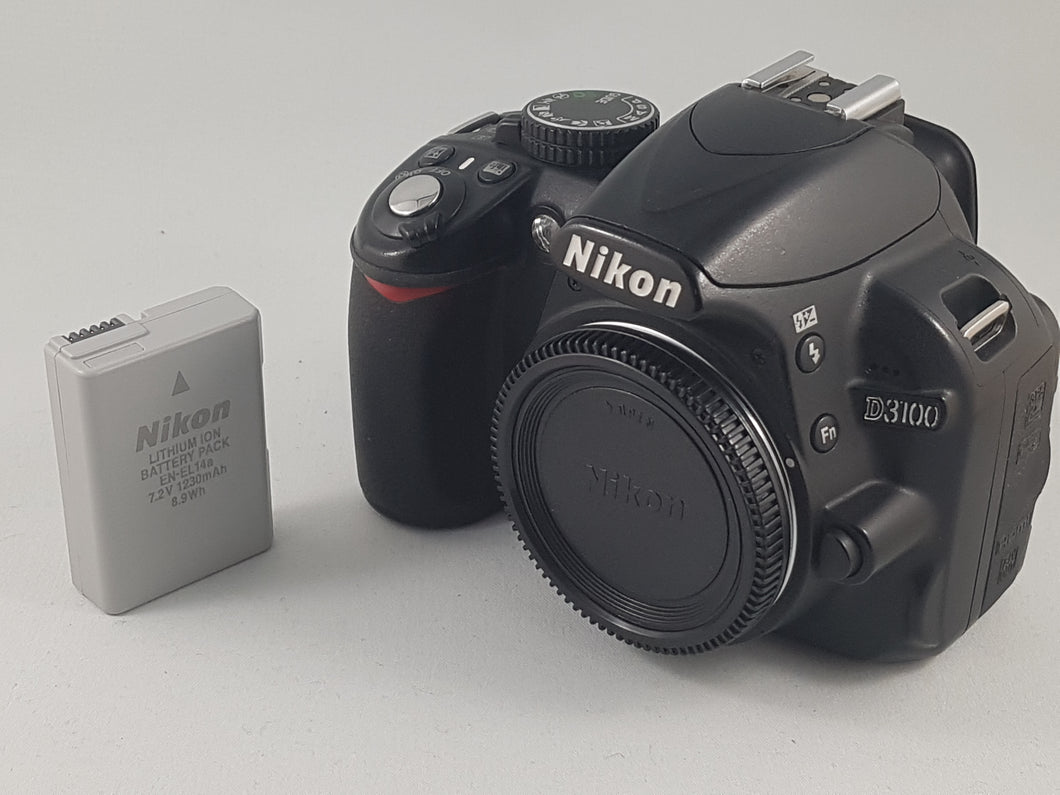 Nikon D3100 14.2MP DSLR with Nikon Battery - Used Condition 9.5/10 - Paramount Camera & Repair - Saskatoon Canada Used Cameras Used Lenses Batteries Grips Chargers Studio