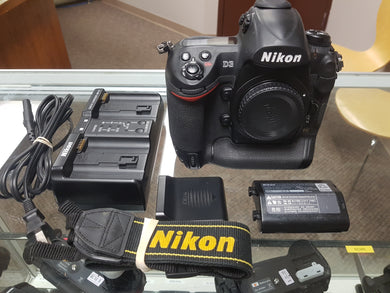 Nikon D3, Professional Full Frame DSLR, 12.1MP, 9FPS with Battery & Charger, Used Condition 9.5/10 - Paramount Camera & Repair - Saskatoon Canada Used Cameras Used Lenses Batteries Grips Chargers Studio