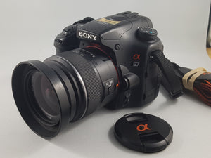 Sony Alpha A57 16.1MP Exmor APS DSLR w/18-55mm Zoom Lens- Used Condition 8/10 - Paramount Camera & Repair - Saskatoon Canada Used Cameras Used Lenses Batteries Grips Chargers Studio