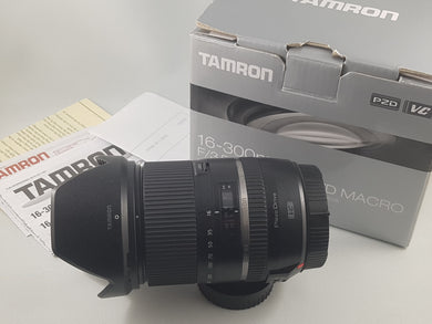 Tamron 16-300mm f/3.5-6.3 Di II VC PZD MACRO Lens for Canon (Model B016E) - Used Condition: 9.5/10 - Paramount Camera & Repair