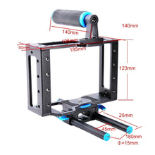 Load image into Gallery viewer, DSLR Video Cage frame - 15mm Rails, Rod Mount, Cage, Grips, Top handle - Paramount Camera & Repair