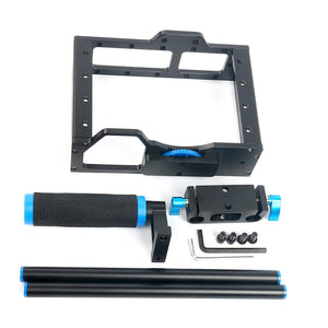 DSLR Video Cage frame - 15mm Rails, Rod Mount, Cage, Grips, Top handle - Paramount Camera & Repair