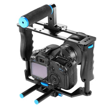 Load image into Gallery viewer, DSLR Video Cage frame - 15mm Rails, Rod Mount, Cage, Side Grips, Top handle - Paramount Camera & Repair - Saskatoon Canada Used Cameras Used Lenses Batteries Grips Chargers Studio
