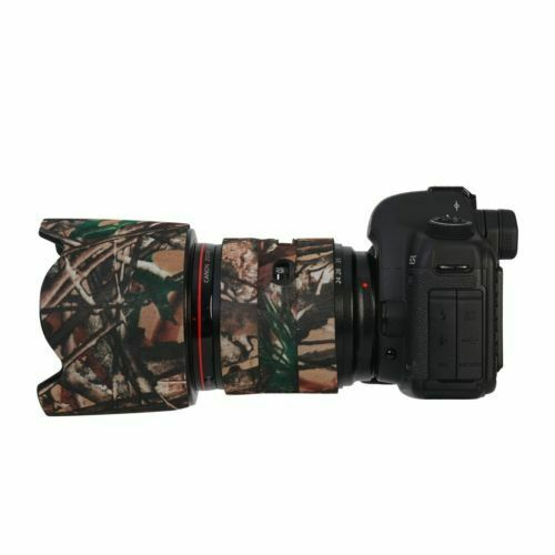 Camo Protective Lens Cover for Canon 24-70mm f/2.8L - Rubberized Neoprene - Mossy Oak - Paramount Camera & Repair