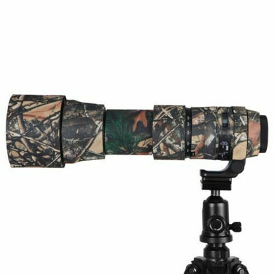 Camo Protective Lens Cover for Sigma 150-600mm Contemp Version-Rubberized Neoprene-Mossy Oak - Paramount Camera & Repair - Saskatoon Canada Used Cameras Used Lenses Batteries Grips Chargers Studio
