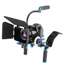 Load image into Gallery viewer, DSLR Deluxe Video Rig Kit- Follow Focus, 15mm Rails, Riser Mounts, Shoulder Support, Matte Box, Front grips & Brackets - Paramount Camera & Repair - Saskatoon Canada Used Cameras Used Lenses Batteries Grips Chargers Studio