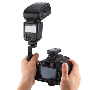 Heavy Duty L Bracket Video/Flash Mount w/padded rubber grip - Dual Flash Mount - Paramount Camera & Repair - Saskatoon Canada Used Cameras Used Lenses Batteries Grips Chargers Studio
