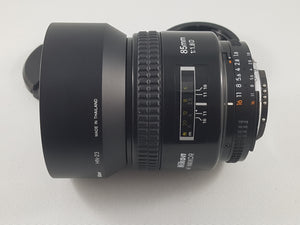 Nikon 85mm f/1.8D Auto Focus Nikkor Lens - Used Condition 9/10 - Paramount Camera & Repair - Saskatoon Canada Used Cameras Used Lenses Batteries Grips Chargers Studio