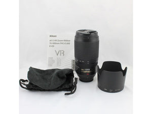 Nikon AF-S VR Zoom-Nikkor 70-300mm f/4.5-5.6G IF-ED Lens - Used Condition 10/10 - Paramount Camera & Repair - Saskatoon Canada Used Cameras Used Lenses Batteries Grips Chargers Studio