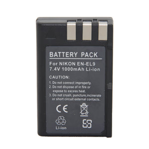 EN-EL9 Lithium Battery for  Nikon D40 - Nikon D40x - Nikon D60 - Nikon D3000 - Nikon D5000 - Paramount Camera & Repair - Saskatoon Canada Used Cameras Used Lenses Batteries Grips Chargers Studio