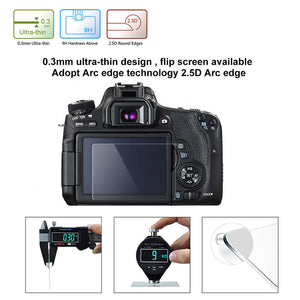 Tempered Glass Camera LCD Screen Protector - Self Adhesive - Touchscreen Compatible - Paramount Camera & Repair