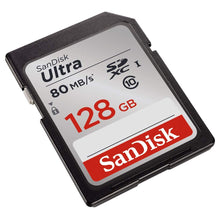 Load image into Gallery viewer, Sandisk 128GB Ultra UHS-I Class 10 SDXC Memory SD Card - Read:80mb/s-Write:30mb/s - Paramount Camera & Repair - Saskatoon Canada Used Cameras Used Lenses Batteries Grips Chargers Studio