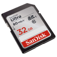Load image into Gallery viewer, Sandisk 32GB Ultra UHS-I Class 10 SDXC Memory SD Card - Read:80mb/s-Write:30mb/s - Paramount Camera & Repair - Saskatoon Canada Used Cameras Used Lenses Batteries Grips Chargers Studio