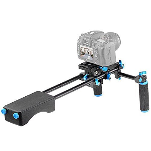 DSLR Video Rig Kit- 15mm Rails, Mounts, Shoulder Support, Front grips & Brackets - Paramount Camera & Repair - Saskatoon Canada Used Cameras Used Lenses Batteries Grips Chargers Studio