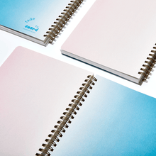 Load image into Gallery viewer, studio snerd fade ambidextrous notebook covers blue blush pink