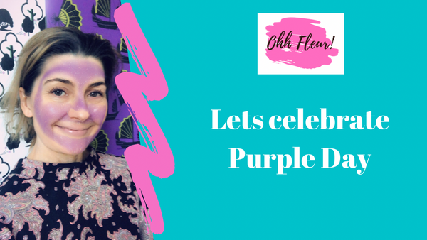 Fleur Friday Vlog about purple day