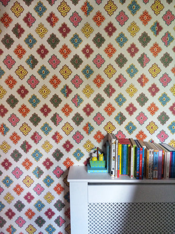 Designers Guild wallpaper in little girls room by fleur Ward