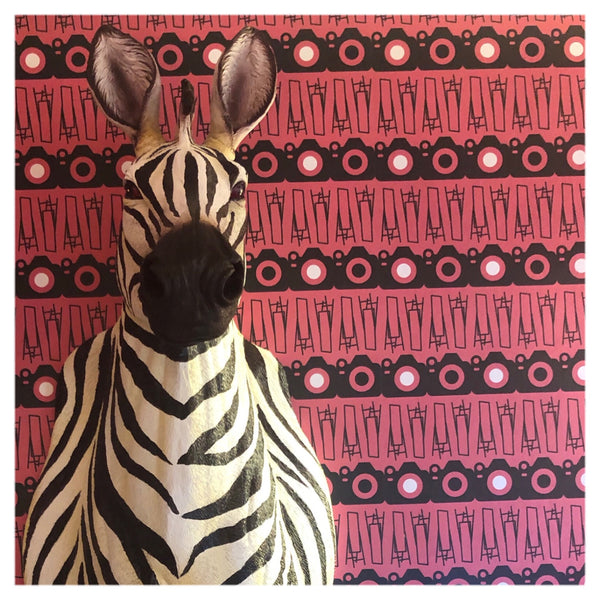 zebra wall art at Mooch inside