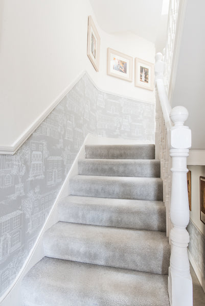 grey hallway grey carpet hamstead wallpaper