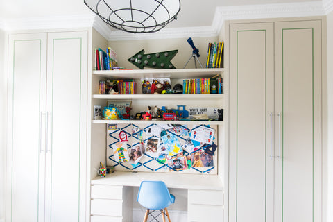 Boys room design joinery wardrobes and desk