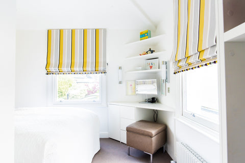 spare aupair room design yellow and lilac triangular shaped room romo small spaces dressing area desk