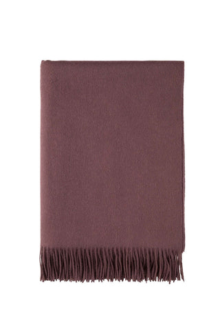 Mulberry cashmere throw