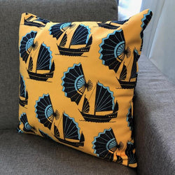 Fan of Junk Yellow Cushion
