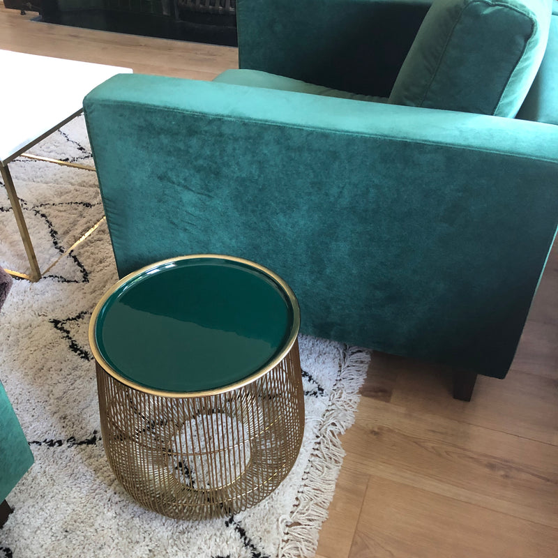 Gold and Green side tables