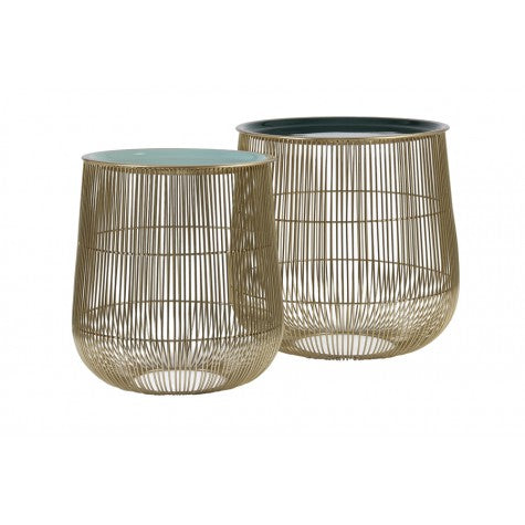 Gold and Green side tables from Ohh Fleur