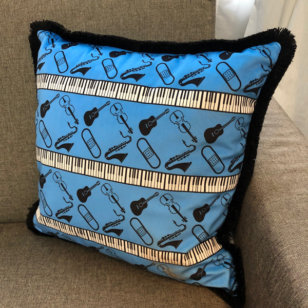 Blue Band Aide Cushions
