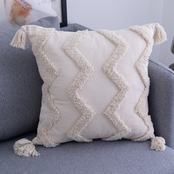 Tassels Cushion Cover 45x 45cm/30x50cm