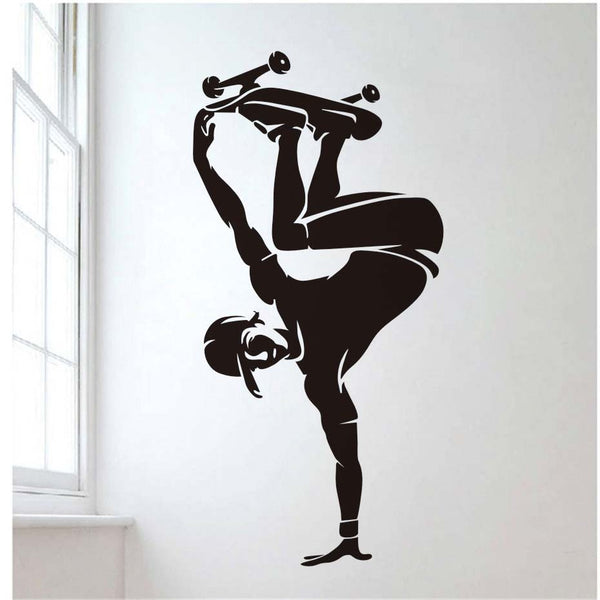 Teenage Skateboarding Wall Decal