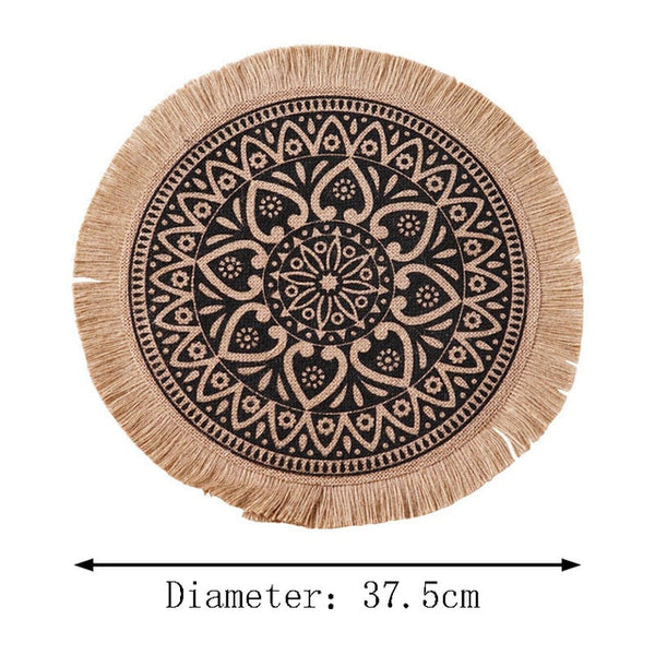 These placemats are so pretty and seasonal. Love a fringe and raffia and together, will elevate my table top.   If you like your skandi, natural, or texture these are for you!