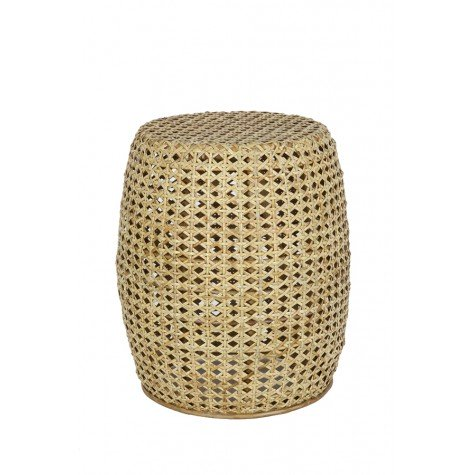 rattan stool or side table by ohh fleur