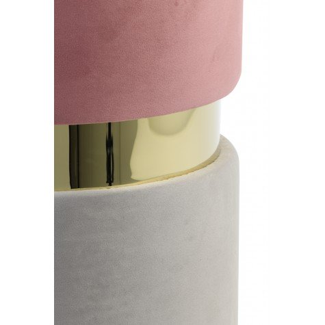 pink grey and gold stool by Ohh Fleur