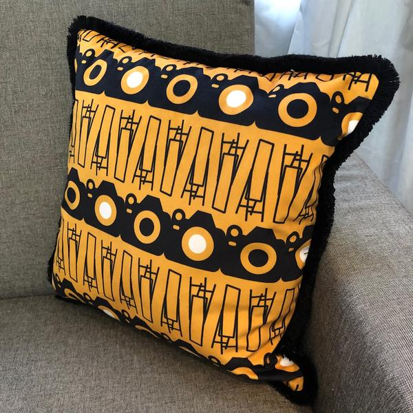 Self Distraction Yellow Cushions