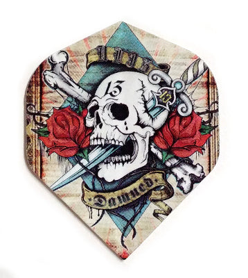 Set Alchemy flights detailed designs tails feathers  darts accessories parts dart red roses skull bones damned damnation 13 tattoo dagger scroll rock n'roll
