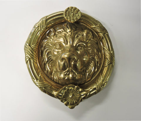 Brass Door Knocker - Large Lion