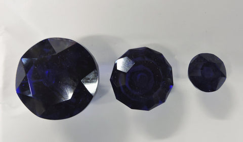Navy Blue Glass Cabinet Knobs