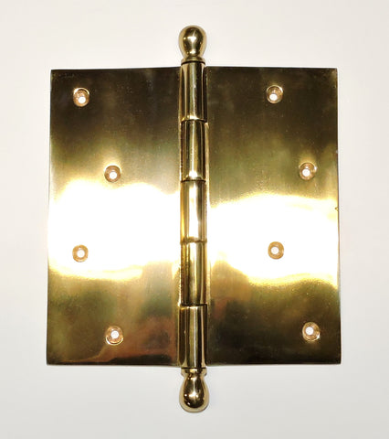 "Plain Hinges 6""X6"" #H6- Brass and Chrome"