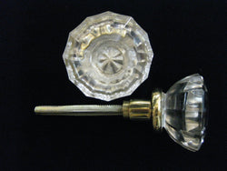 Plain Clear Glass Knob