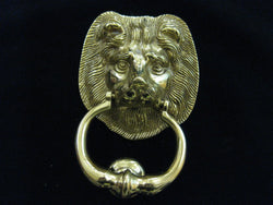 Brass Door Knocker - Lion