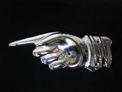 Pointing Hand Sign - Chrome