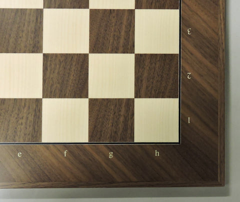 professional chess board with coordinates, made in Spain best chess boards walnut maple inlaid wood elegant board game classic games Shop Buy Online Vancouver
